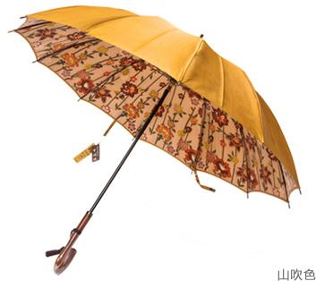 婦人用長傘 甲州織裏ほぐし織長傘「和花柄」