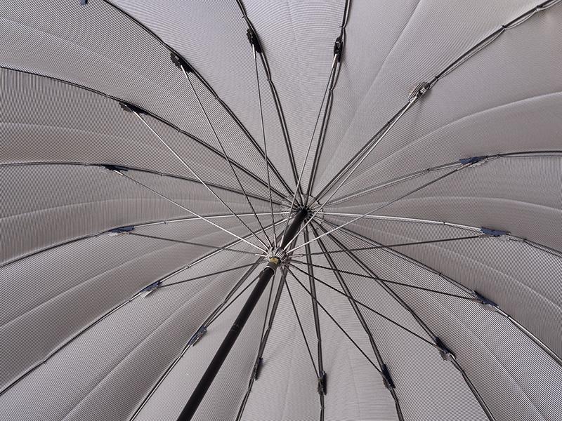 小宮商店 長傘 裏縞 ブルー