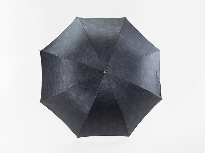 小宮商店 長傘 桐生織 フォレストジャガード ネイビー