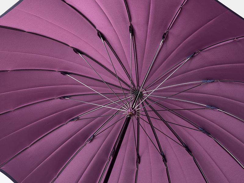 小宮商店 婦人用長傘 甲州織 かさね コーラルレッド