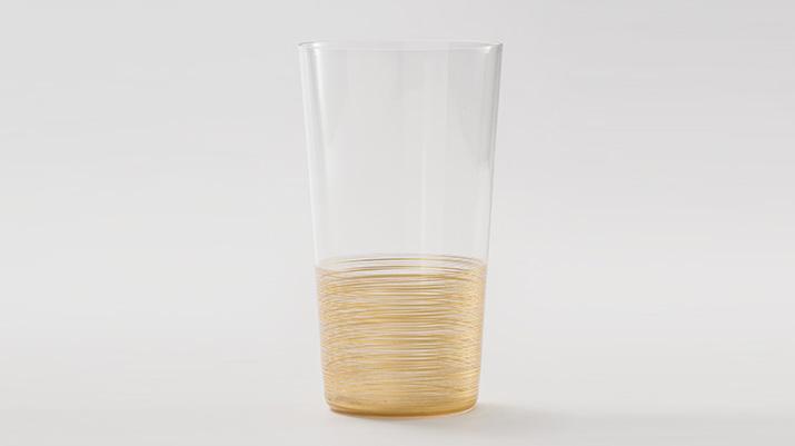 金沢箔工芸 うすぶきタンブラーグラス千筋