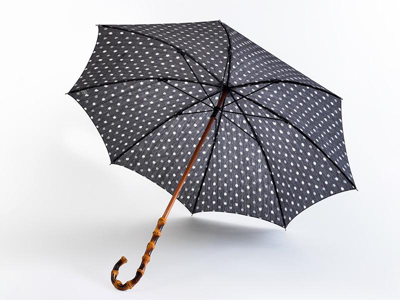 久留米絣 日傘 長傘/バンブー 藤の花
