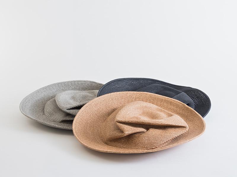 石田製帽 セルビークラッシュハット グレー
