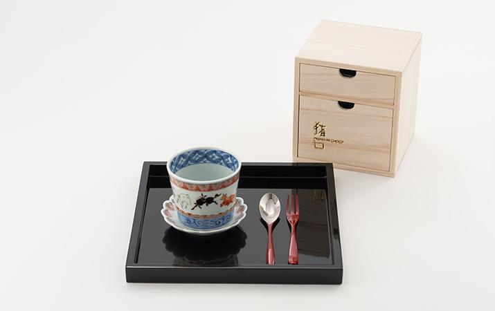 有田焼 そば猪口・豆皿セット PREMIUM CHOCO