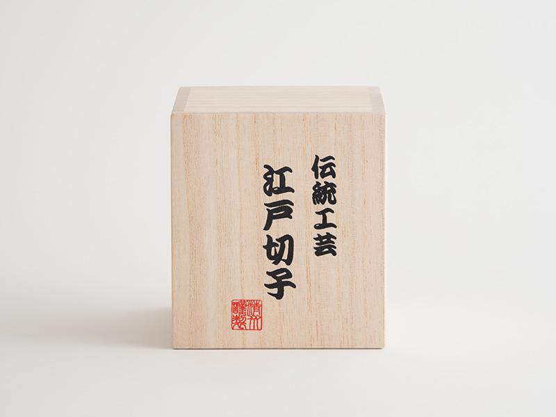 江戸切子 丸ロックグラス 隅田川の花火