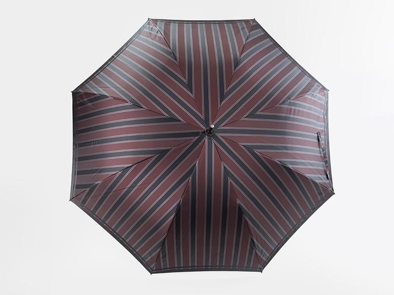 槙田商店 長傘 Tie  Stripe×Plain エンジ