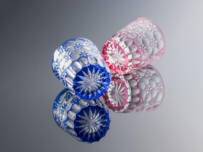 江戸切子 大場硝子 グラス 万華鏡 瑠璃